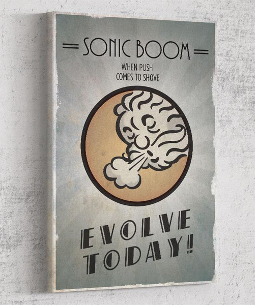 Bioshock Plasmid Sonic Boom Canvas by The Pixel Empire - Pixel Empire