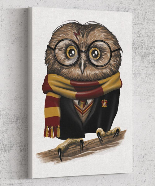 Owly Potter Canvas by Vincent Trinidad - Pixel Empire