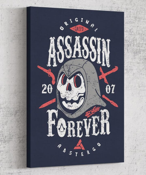 Assassin Forever Canvas by Olipop - Pixel Empire
