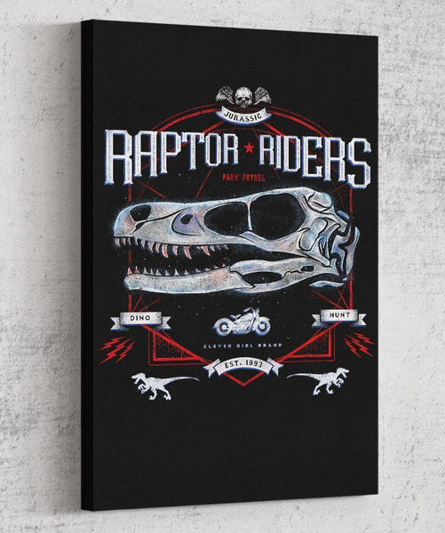 Raptor Riders Canvas by Barrett Biggers - Pixel Empire