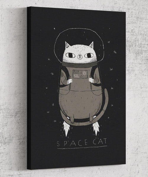 Space Cat Canvas by Louis Roskosch - Pixel Empire