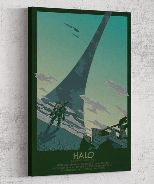 Halo: Combat Evolved Movie Poster Canvas by The Pixel Empire - Pixel Empire