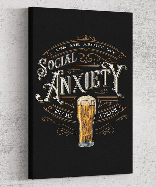 Social Anxiety Canvas by Barrett Biggers - Pixel Empire