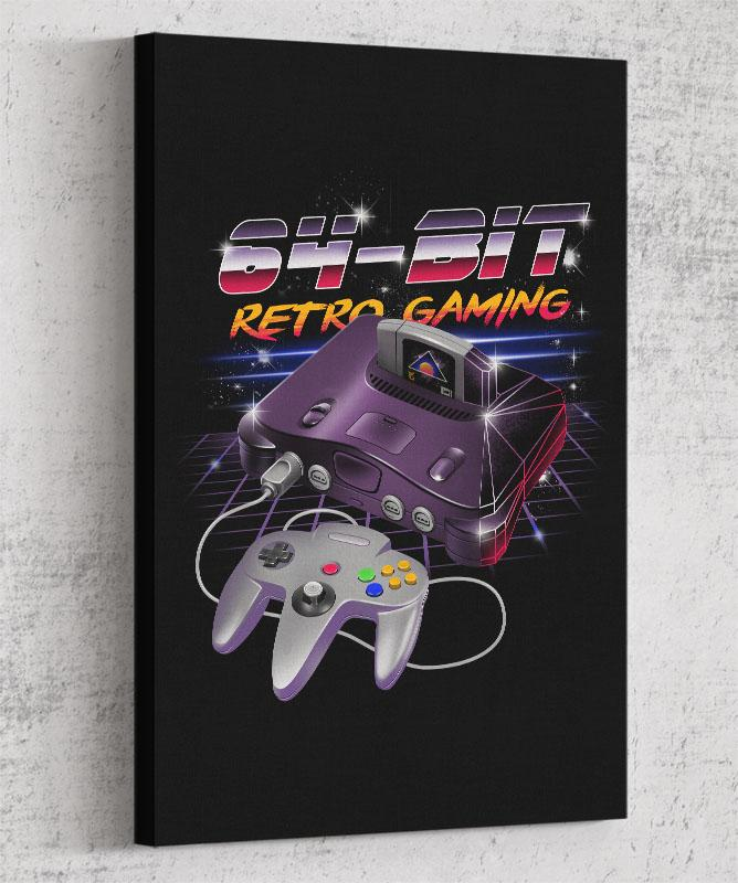 64-Bit Retro Gaming Canvas by Vincent Trinidad - Pixel Empire