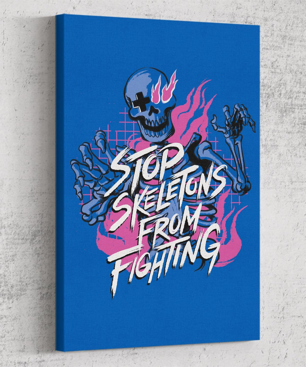 Stop Skeletons From Fighting Canvas by Stop Skeletons From Fighting - Pixel Empire