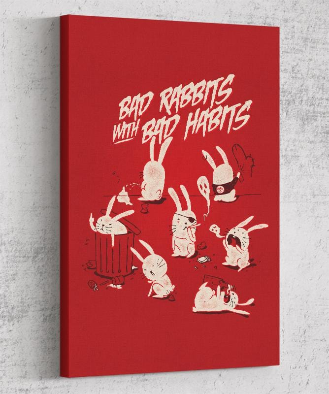 Bad Rabbits Canvas by Mathiole - Pixel Empire