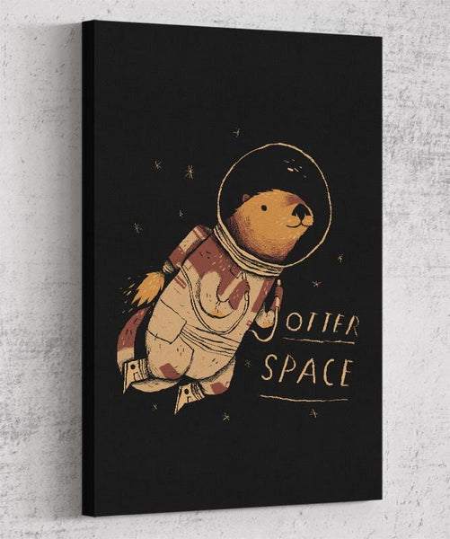 Otter Space Canvas by Louis Roskosch - Pixel Empire