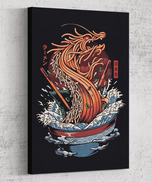 Dragon Ramen Canvas by Ilustrata - Pixel Empire
