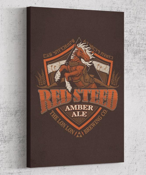 Red Steed Ale Canvas by Cory Freeman Design - Pixel Empire