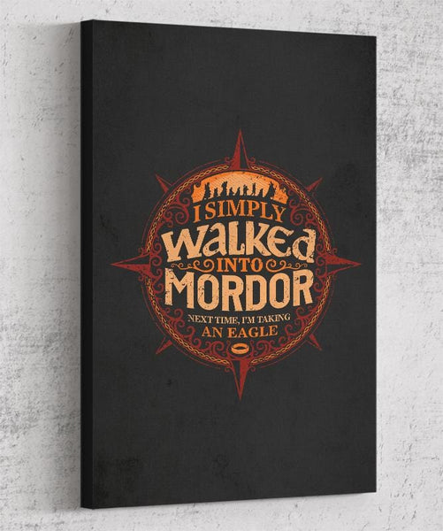 Walked Into Mordor Canvas by Cory Freeman Design - Pixel Empire
