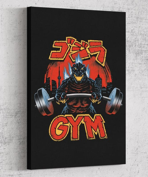 Zilla Gym Canvas by Vincent Trinidad - Pixel Empire