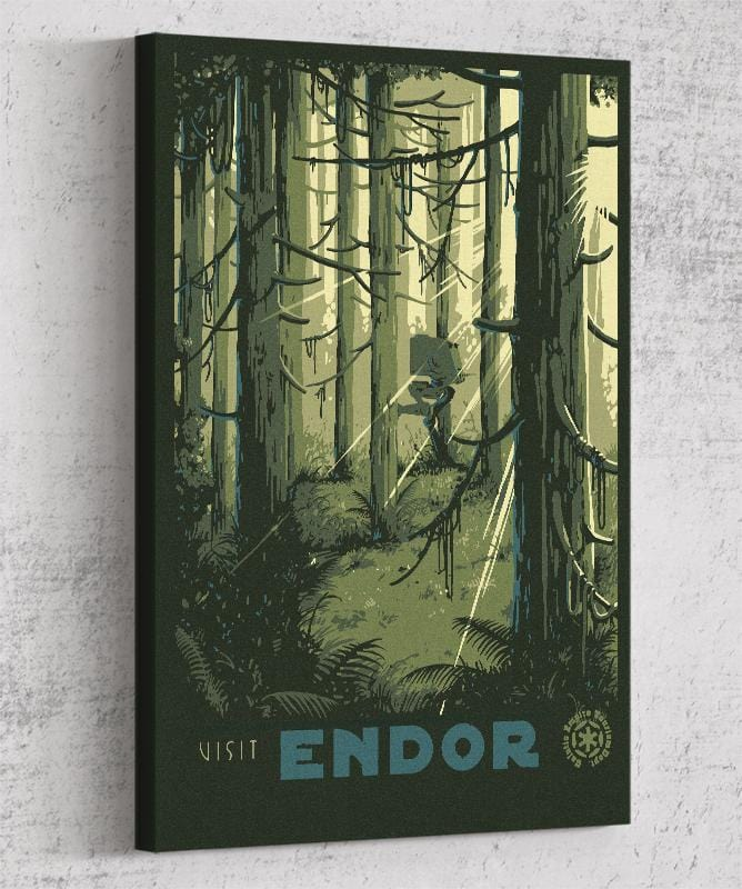 Visit Endor Canvas by Mathiole - Pixel Empire