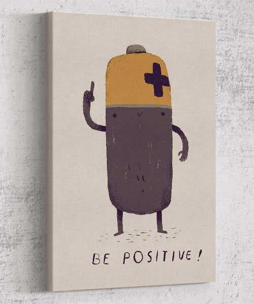 Be Positive Canvas by Louis Roskosch - Pixel Empire