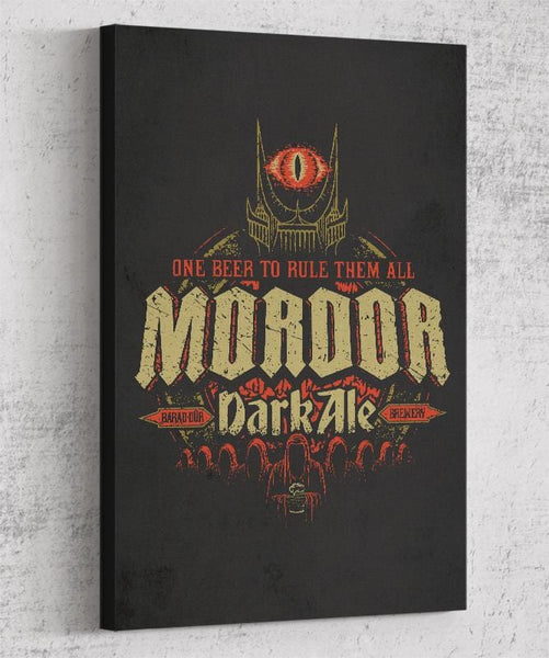 Mordor Dark Ale Canvas by Cory Freeman Design - Pixel Empire
