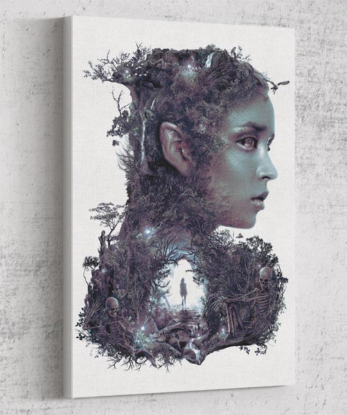 Lady Of The Dark Wood Canvas by Barrett Biggers - Pixel Empire