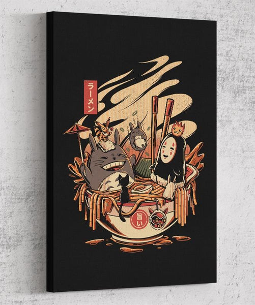 Ramen Pool Party Canvas by Ilustrata - Pixel Empire