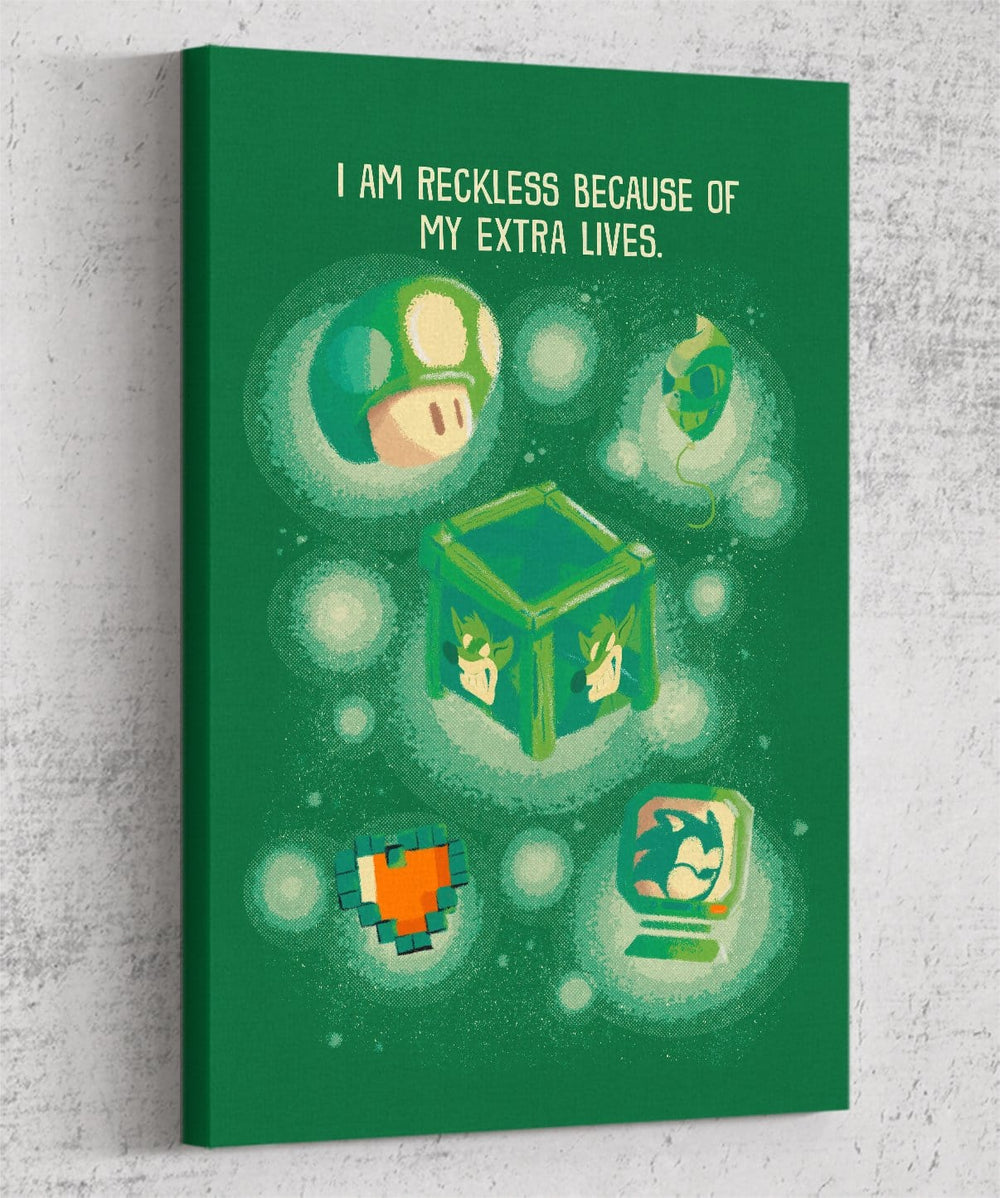 I Am Reckless Canvas by Andre Fellipe - Pixel Empire