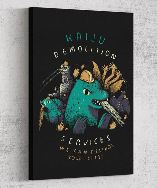 Kaiju Demolition Canvas by Louis Roskosch - Pixel Empire