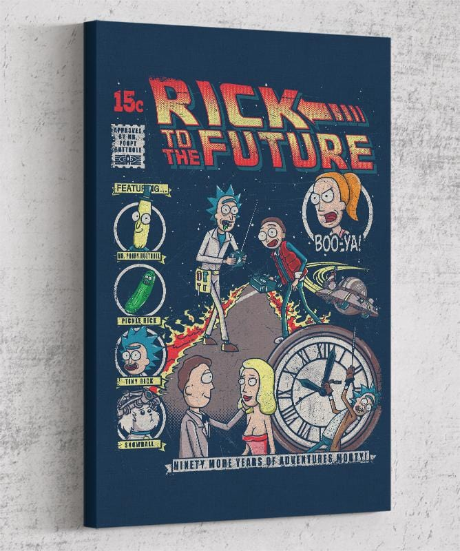 Rick To The Future Canvas by Punksthetic - Pixel Empire