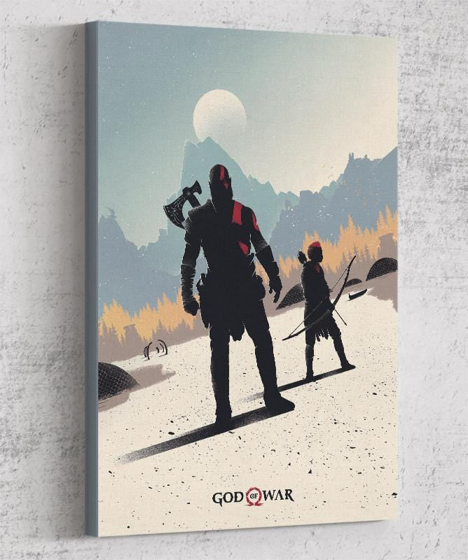 God of War Canvas by Felix Tindall - Pixel Empire
