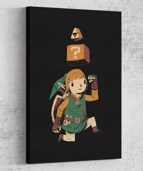 Triforce Power Up Canvas by Louis Roskosch - Pixel Empire