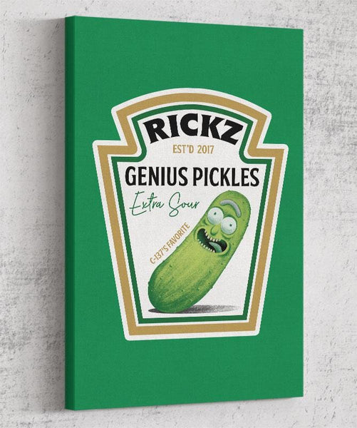 Rickz Pickles Canvas by Diego Pedauyé - Pixel Empire