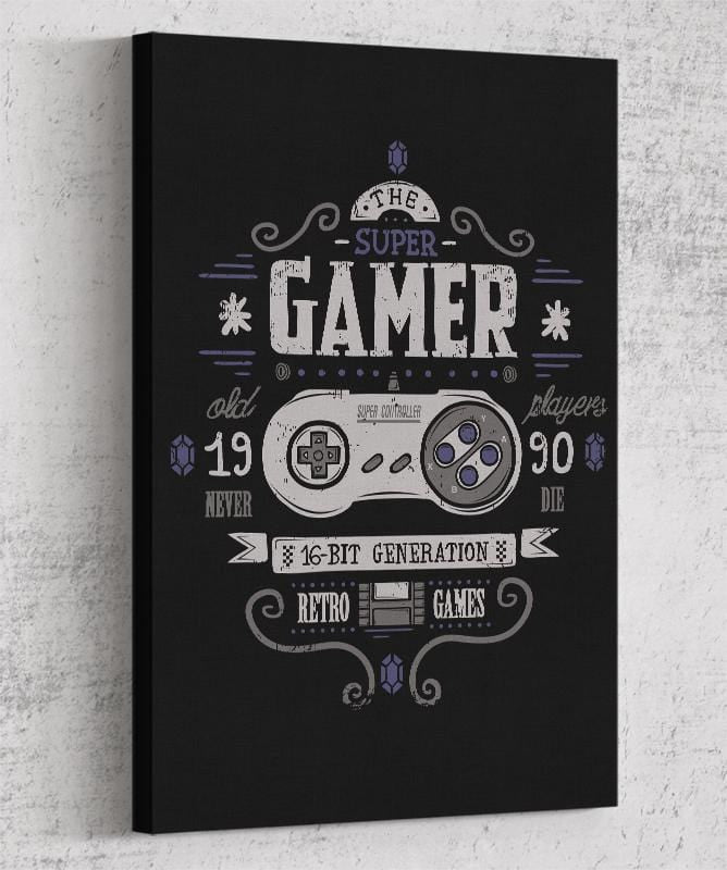 Super Gamer Canvas by Typhoonic - Pixel Empire