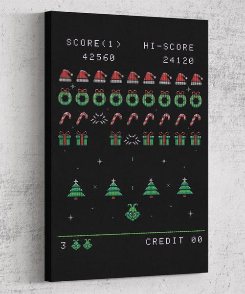 Christmas Invader Canvas by Typhoonic - Pixel Empire