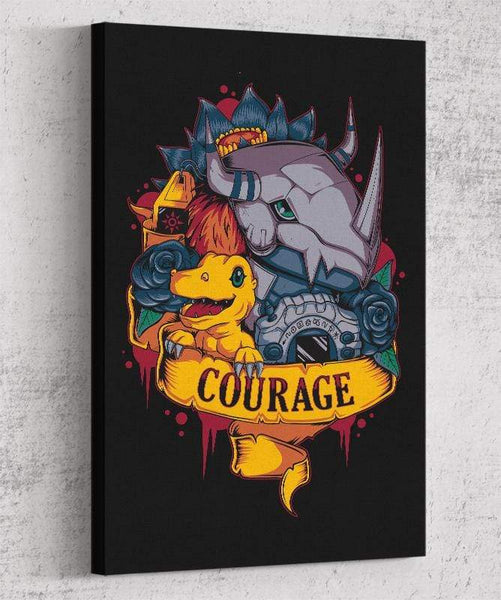 Courage Power Canvas by Typhoonic - Pixel Empire