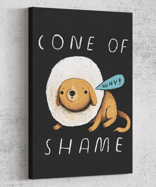 Cone Of Shame Canvas by Louis Roskosch - Pixel Empire