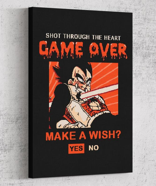 Game Over Vegeta Canvas by Cod Designs - Pixel Empire
