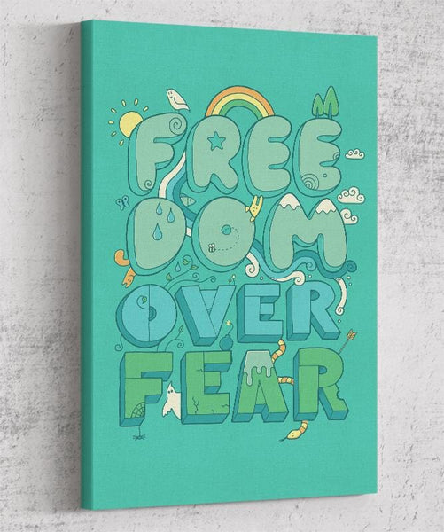 Freedom Over Fear Canvas by Rick Crane - Pixel Empire
