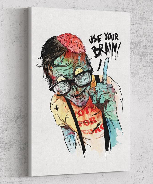 Use Your Brain Canvas by Mathiole - Pixel Empire