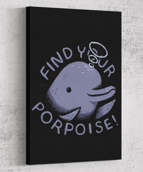 Find Your Porpoise Canvas by Louis Roskosch - Pixel Empire