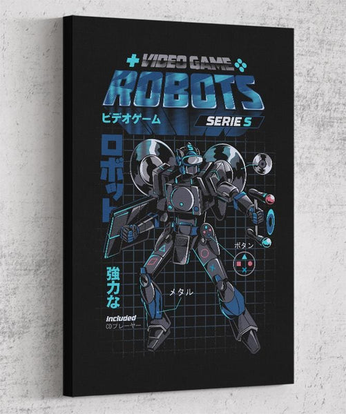 Video Game Robot - Model S Canvas by Ilustrata - Pixel Empire