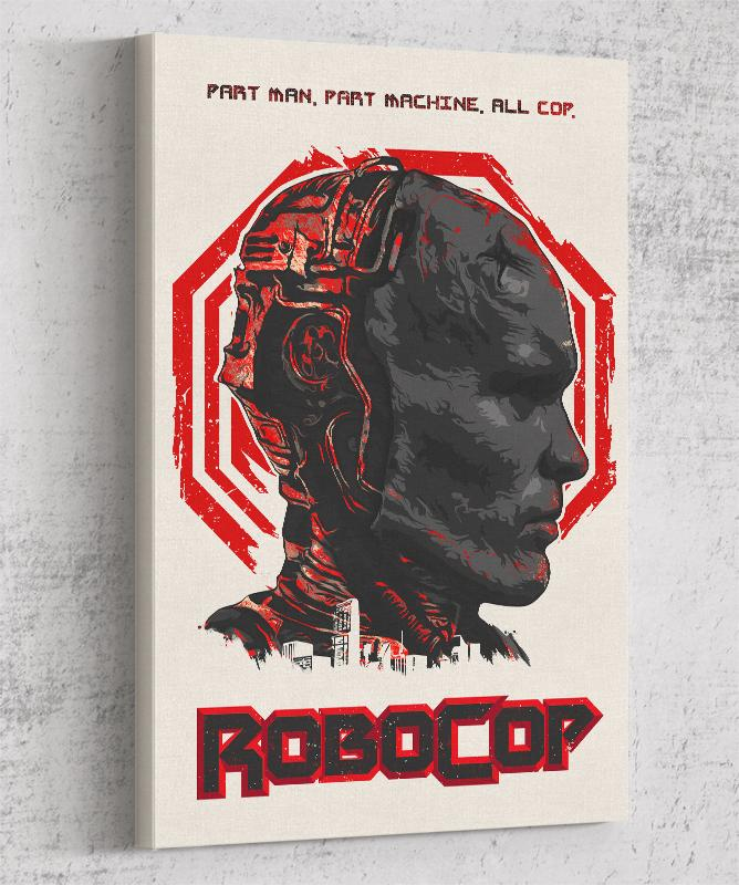 Robocop Canvas by The Usher Designs - Pixel Empire