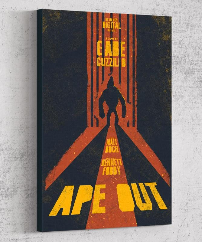 Ape Out Canvas by Felix Tindall - Pixel Empire