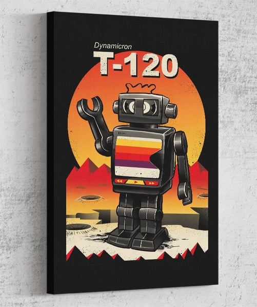 Vhs Bot Canvas by Vincent Trinidad - Pixel Empire