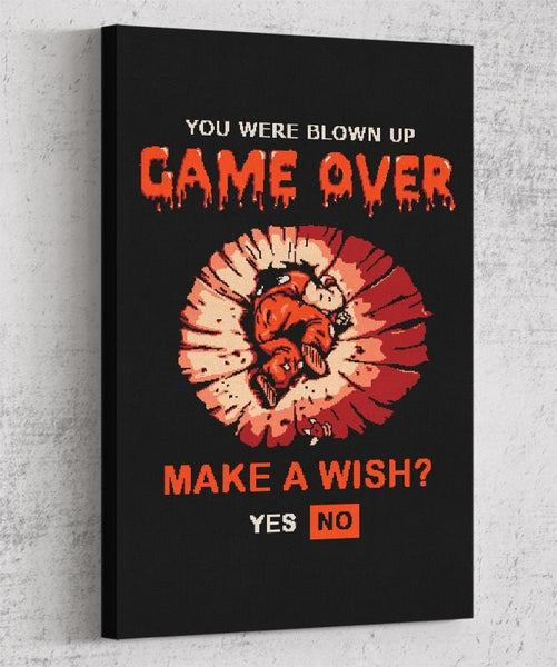 Game Over Yamcha Canvas by Cod Designs - Pixel Empire