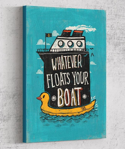Whatever Floats Your Boat Canvas by Ronan Lynam - Pixel Empire