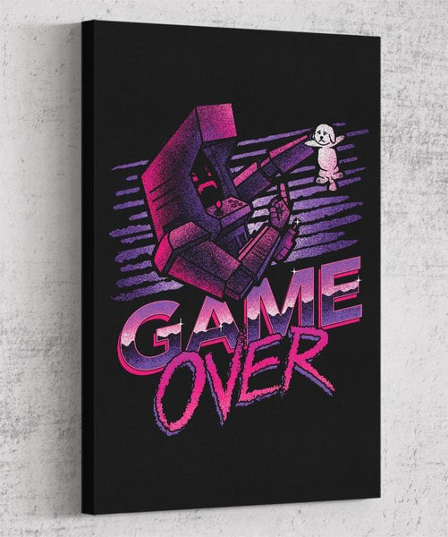 Game Over Canvas by Cory Freeman Design - Pixel Empire