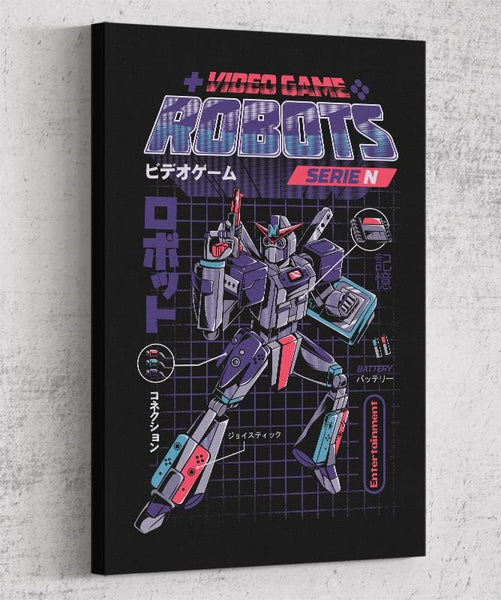 Video Game Robot - Model N Canvas by Ilustrata - Pixel Empire