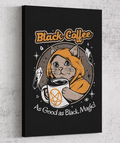 Black Coffee Canvas by Ilustrata - Pixel Empire