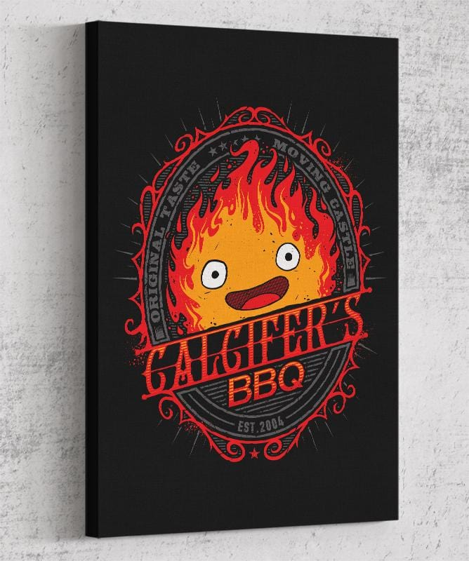 Calcifer's Bbq Canvas by StudioM6 - Pixel Empire