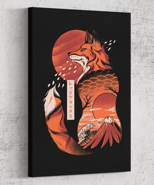 Japanese Fox Canvas by Ilustrata - Pixel Empire