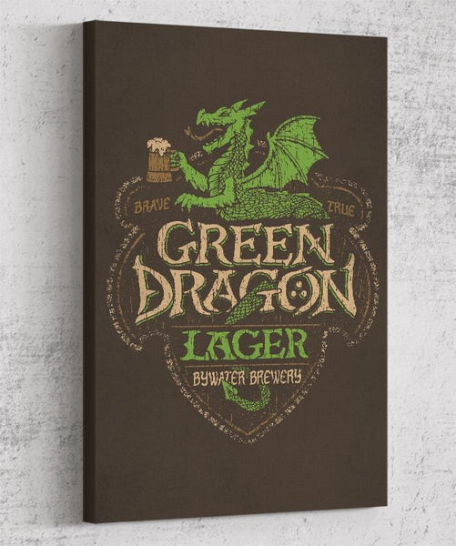 Green Dragon Lager Canvas by Cory Freeman Design - Pixel Empire