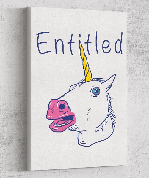 Entitled Unicorn Canvas by Vincent Trinidad - Pixel Empire