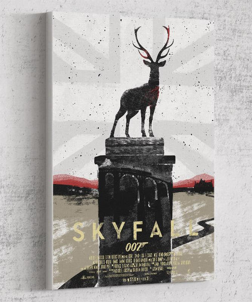 007 Skyfall Canvas by Felix Tindall - Pixel Empire