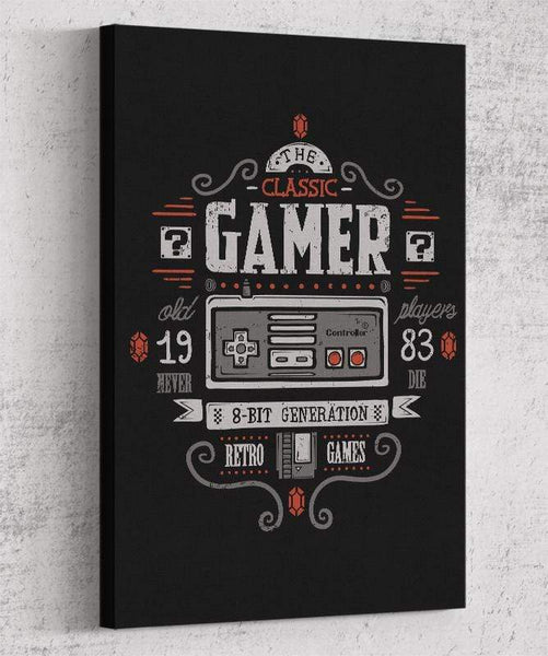 Classic Gamer Canvas by Typhoonic - Pixel Empire