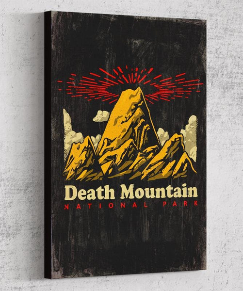 Death Mountain Canvas by Ronan Lynam - Pixel Empire